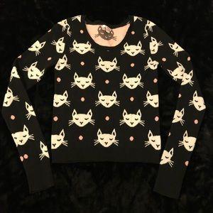 Bingo Size Medium Cat Kitten Black Sweater
